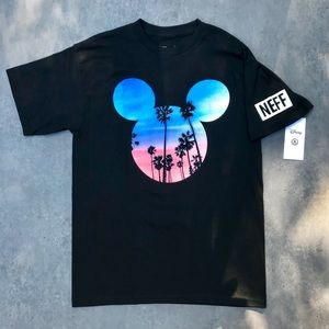 Disney by Neff Sunset Mickey Mouse Black T-shirt